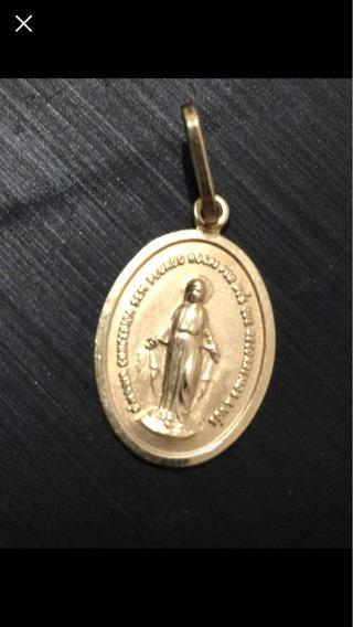 Pingente De Ouro Nossa Senhora Das Graças Ouro