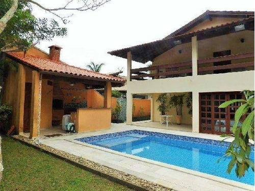 Casa Com 4 Dormitórios À Venda, 366 M² Por R$ 2.950.000,00 - Riviera - Módulo 30 - Bertioga/sp - Ca0535