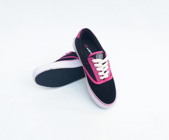 Zapatillas Airwalk ( Negro/rosa/ Ntx)