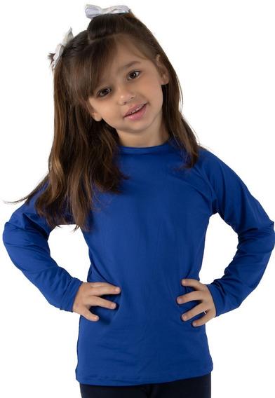 Camisa Térmica Infantil Alta Compressão Tecido C/ Proteção