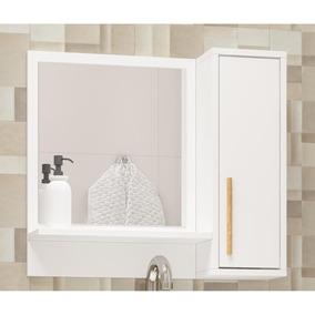 Espelheira Para Banheiro Brv Bbn 07 Com 1 Porta Branco