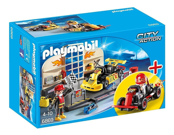 Brinquedo Playmobil City Action Oficina De Kart 6869 Sunny