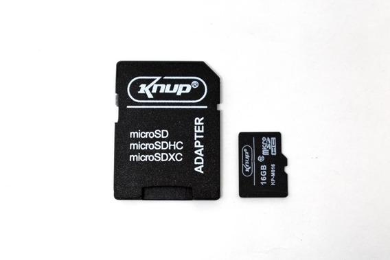 Cartão De Memoria Micro Sd 16gb Lacrado Original Knup