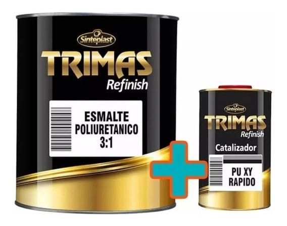 Pintura Automotriz Auto Poliuretano + Cata Trimas Blanco 1 L