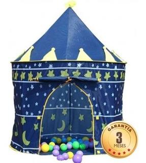 Carpa Castillo Para Niñas Y Niños Azul