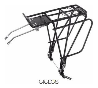 Portapaquetes Bicicleta P/ Alforjas R26 A 29 Al Eje C/ Cierre - Ciclos