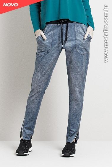 Calça Rolamoça Jogger Fake Jeans 05175-sb550 Original