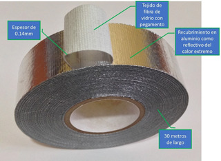 Cinta Adhesiva Aislante De Altas Temperaturas Aluminio Fibr