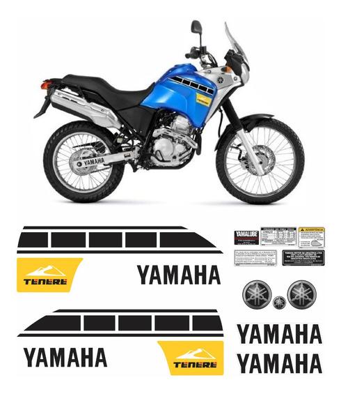 Kit Completo Adesivo Yamaha Tenere 250 2012 Azul Tnr003 Fgc