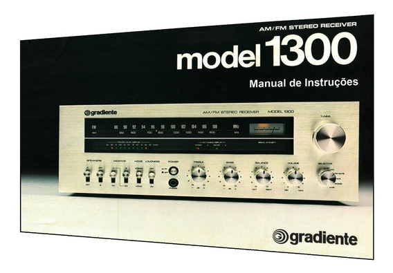 Manual Do Receiver Gradiente Model 1300 (edição Colorida)