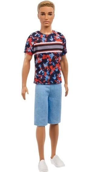 Boneco Ken Fashionistas N118 Fxl65/dwk44 - Mattel