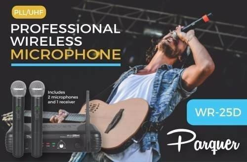 Microfono Inalambrico Profesional Dual Uhf Parquer Cuota