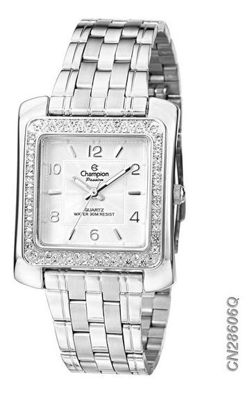 Relógio Feminino Champion Prateado Quadrado