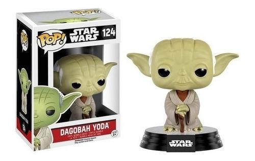 Boneco Funko Pop Star Wars Yoda Dogabah 124 Mestre Saga