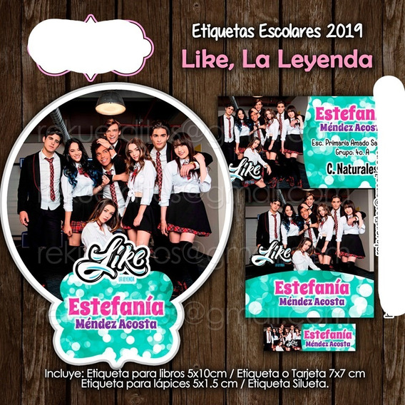 Etiquetas Escolares Imprimibles Like La Leyenda