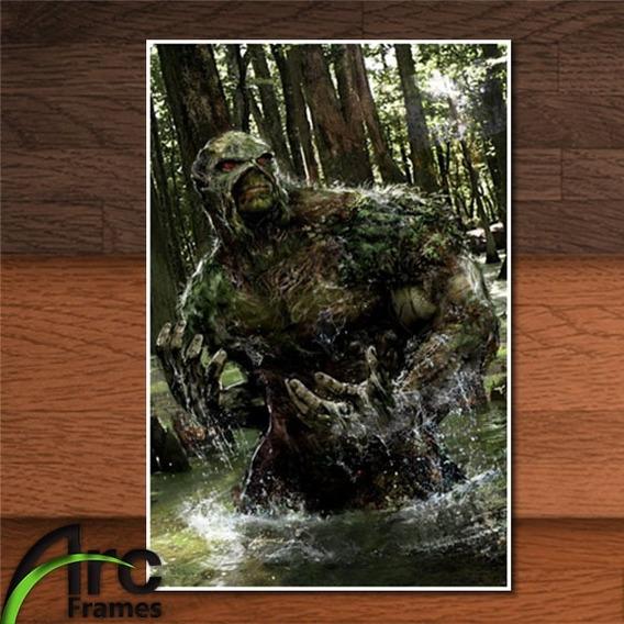 Placa Decorativa Mdf Monstro Do Pântano Dc Comics