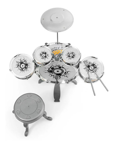 Mini Bateria Musical Infantil Rock Party Prato Com  Pedal