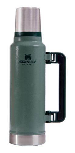 Stanley Termo Clásico 1.4 LTS con Tapón Cebador de acero inoxidable verde