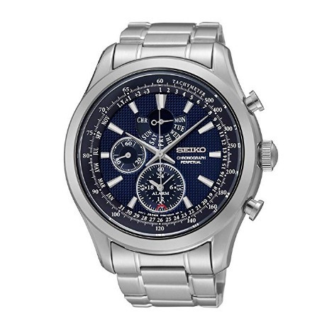 Relógio Masculino Seiko Neoclassic Azul/aço Alarme Calendari
