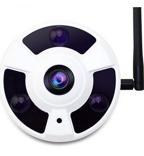 Camera Ip Panoramica 360 Wifi Lente Olho De Peixe Onvif 960p