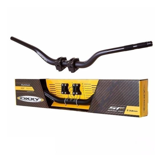 Guidão Para Moto Oxxy Super Fat Alto Preto + Adaptador