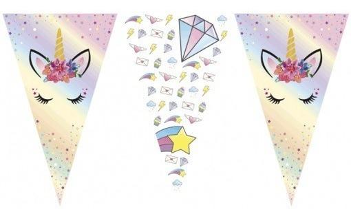 Banderin Triangular Unicornio Cotillon Jiujim