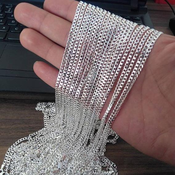 Correntes Em Prata 925 Maciça 1x1 70cm 3mm 10g $130