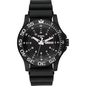 Traser H3 P 6600 Elite Red Sapphire Watch Rubber Strap Blac