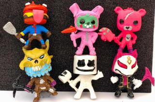 Paquete De 6 Figuras Fortnite Pop Bootleg Marshmello Deriva