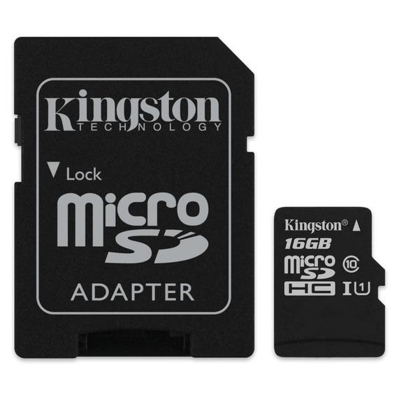 Cartão De Memória Microsd 16gb Kingston C10 Com Adaptador