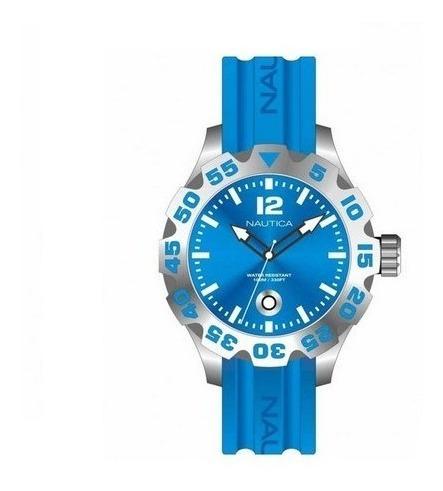 Relogio Masculino Nautica A14602g Azul Original