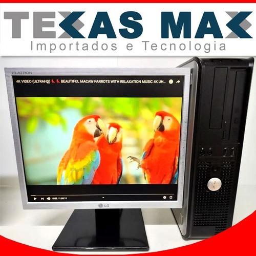 Imagem 1 de 4 de Lenovo Cpu Core 2 Duo+ Monitor De 15+teclado E Mouse