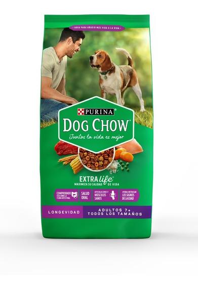 Purina® Dog Chow® Longevidad Adultos (7+) 21 Kg + Regalos
