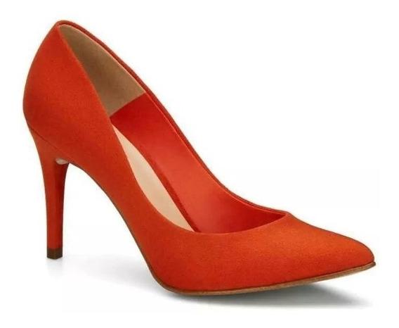 Zapatilla Zapato Andrea Naranja 2540580 Pump Tacon 10