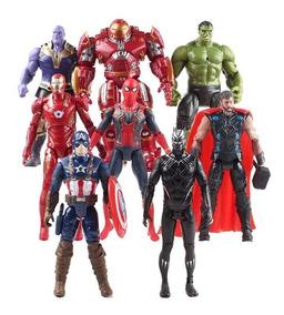 Kit Bonecos Hulkbuster Hulk Thanos Iron Man Spider Ultimato