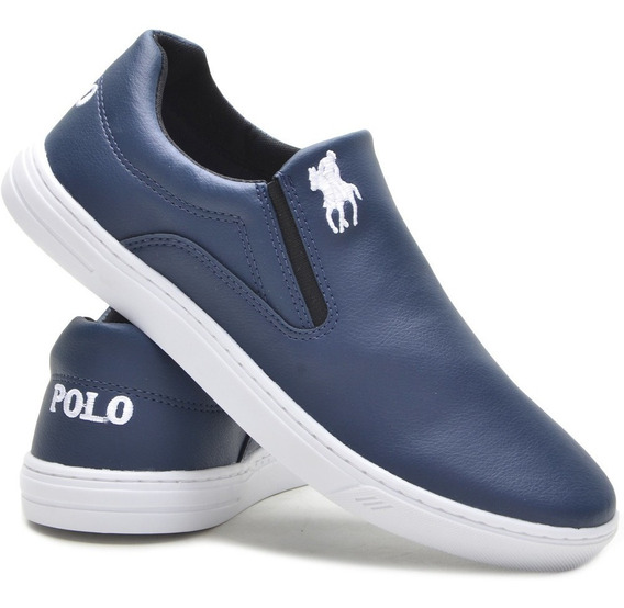 Tenis Masculino Sapatenis Polo Plus Iate Slip On Original