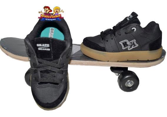Tênis Skatista Com Skate Pequeno De Brinde Beakid 113001333