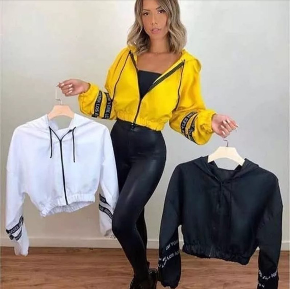 Corta Vento Blusa Blusinha Jaqueta Feminina Casaco Curta