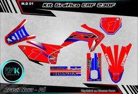 Kit Gráfico Crf 230 2015 Adesivo 0.20m Laminad Personalizado