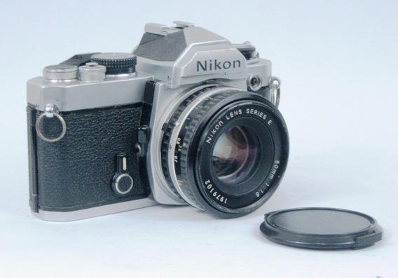 Máquina Fotográfica, Nikon Fm 35-50mm Profissional Analógica