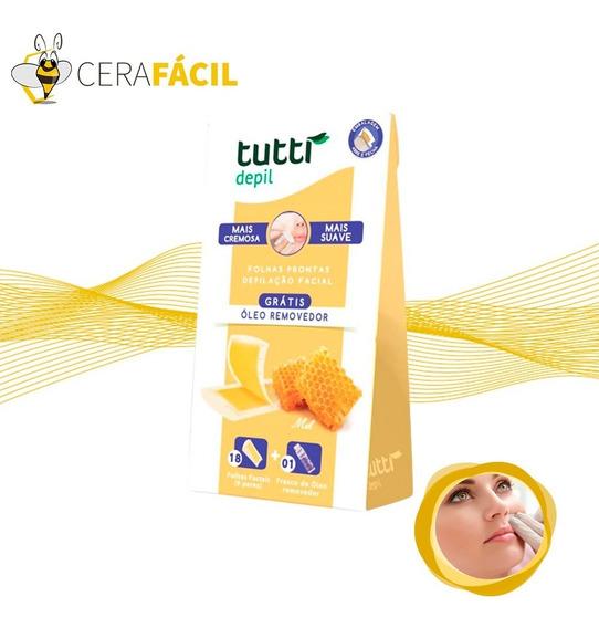 Folhas Prontas Para Depilação Facial Buço Sobrancelha Tutti