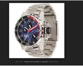 Relógio Everlast E401 - Prata + Fundo Azul + Pulseira Couro