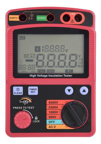Imagen 1 de 10 de Gm3125 Megger Teste - Multímetro Digital De Resistencia De