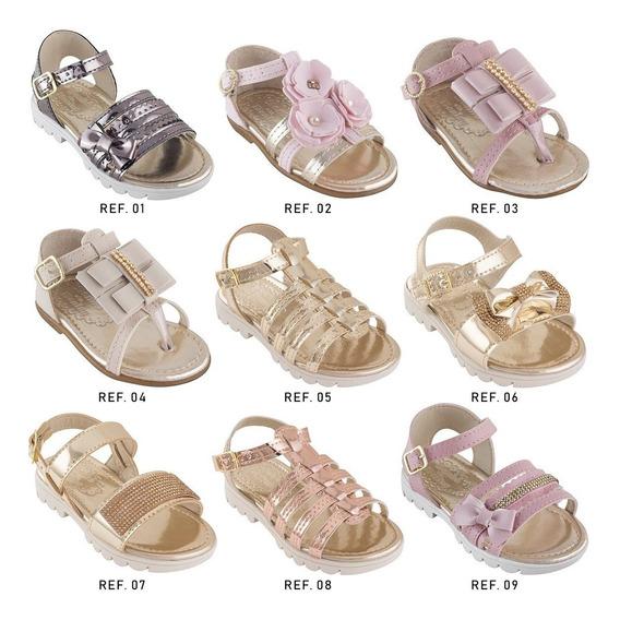 Sandalia Rasteira Feminina Infantil Bebe Moda Lancamento Cca