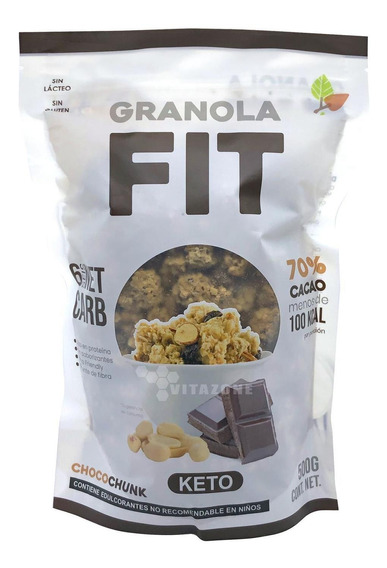 Granola Fit Keto Con Chocolate 500 Grs