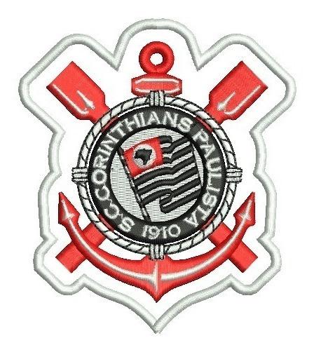 Patch Bordado Escudo Corinthians Termo Colante 11 Cm