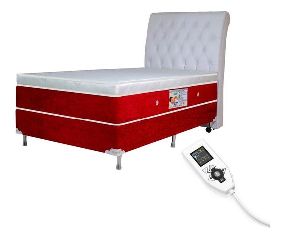 Colchão Magnético Solteiro 0,88x1,88 Massageador Energia Bio Quantica Infra Vermelho Anti Germes + Cama Box + Cabeceira
