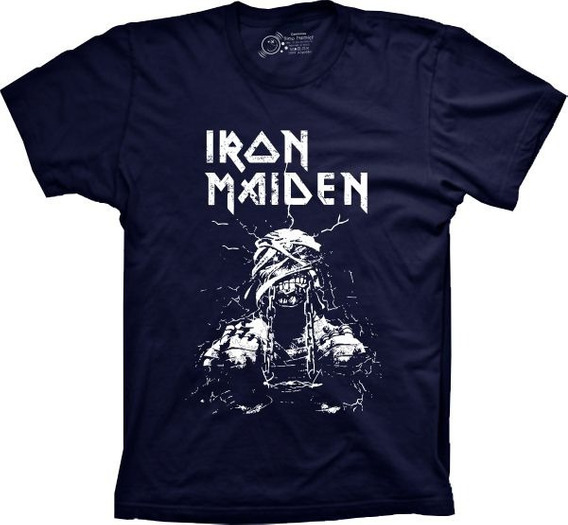 Camiseta 5%off Silk Banda Iron Maiden