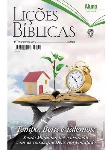 Revista Lições Bíblicas Adulto 3° Trimestre 2019 Aluno -cpad