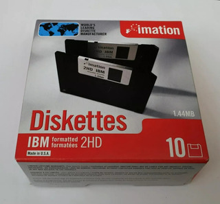 Diskettes 3 1/2 3,5 Nuevos Imation Caja Cerrada X10 Unidades